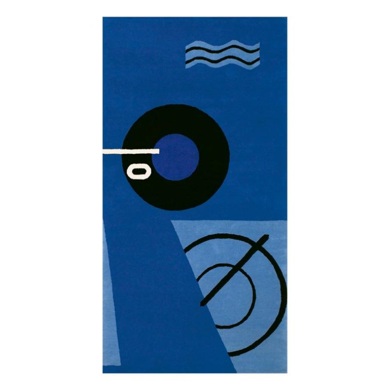 Handgeknüpfter Teppich Blue Marine von ClassiCon