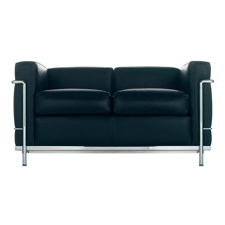 le corbusier lc2 sofa cassina lc2 2 sitzer im online. Black Bedroom Furniture Sets. Home Design Ideas